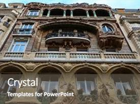 PPT layouts featuring lavirotte building was designed by architect jules lavirotte and built between 1899 and 1901 it is one of the best-known surviving examples of art nouveau architecture in paris background and a dark gray colored foreground.
