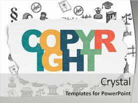 Beautiful PPT layouts featuring law concept painted multicolor text backdrop and a light gray colored foreground.