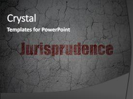 Beautiful slides featuring law concept red jurisprudence on backdrop and a dark gray colored foreground.