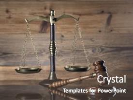 Amazing PPT layouts having law concept scale of justice backdrop and a dark gray colored foreground
