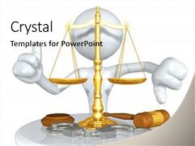 Cool new PPT theme with law legal concept with the backdrop and a white colored foreground.