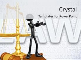 Slide deck consisting of law legal concept with the background and a white colored foreground.