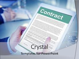 Amazing presentation design having law software - business contract terms legal agreement backdrop and a light gray colored foreground