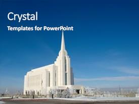 Audience Pleasing PPT Theme Consisting Of Or Mormon Temple Backdrop And A Dark