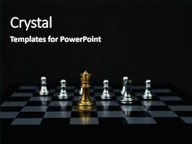 Amazing PPT theme having leadership concepts chess is a leader chess game on a black background backdrop and a  colored foreground.