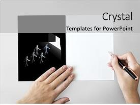 Slides having leadership partner teamwork management graphic background and a light gray colored foreground