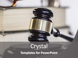 Amazing PPT theme having legal law concept image backdrop and a gray colored foreground.
