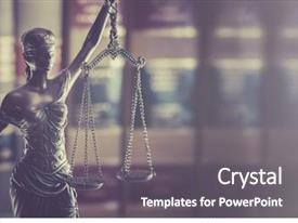 Amazing presentation design having legal law concept image backdrop and a gray colored foreground