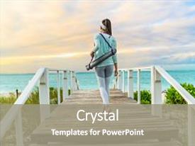 Cool new slides with go - leggings and turquoise hoodie health backdrop and a gray colored foreground.