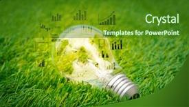 Slide deck having light bulb grow background and a forest green colored foreground