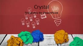 Slide deck consisting of light bulb puzzle - digital image of yellow crumpled background and a red colored foreground