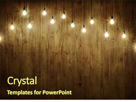 Beautiful PPT layouts featuring light bulbs on dark wooden backdrop and a wine colored foreground