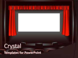 Top movie theater powerpoint templates backgrounds slides and ppt cool new theme with lighting up a dark movie backdrop and a wine colored foreground toneelgroepblik Choice Image