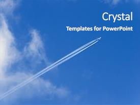 Top supersonic powerpoint templates backgrounds slides and ppt themes ppt theme enhanced with long vapor trail of jet background and a teal colored foreground toneelgroepblik Choice Image