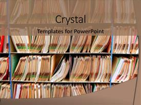 5000 medical records powerpoint templates w medical records themed presentation featuring lot of medical record files background and a coral colored foreground toneelgroepblik Images