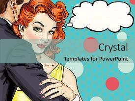 Pop art powerpoint templates crystalgraphics ppt theme consisting of love couple pop art couple background and a light blue colored foreground toneelgroepblik Gallery