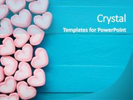 Cool new slides with heart - love theme and valentine background backdrop and a teal colored foreground.