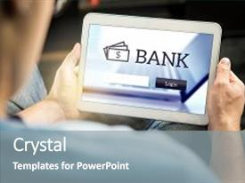 Banking powerpoint templates ppt themes with banking backgrounds presentation theme enhanced with personal account online internet banking background and a gray colored foreground toneelgroepblik Choice Image