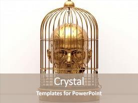 Prison powerpoint templates ppt themes with prison backgrounds colorful ppt theme enhanced with man with a cage on his head free himself freedom man toneelgroepblik Gallery