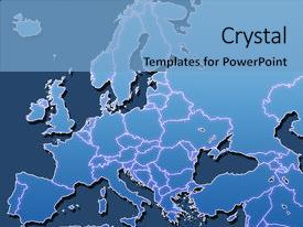 5000 map of europe powerpoint templates w map of europe themed