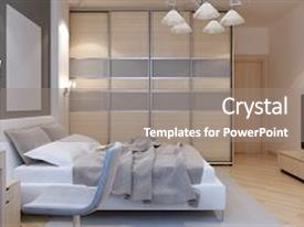PPT theme enhanced with master bedroom art deco style background and a gray colored foreground.