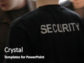 5000 security guard powerpoint templates w security guard themed presentation design with may be use for security background and a black colored foreground toneelgroepblik Gallery