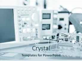 PPT theme having medical - printed circuit board background and a light blue colored foreground