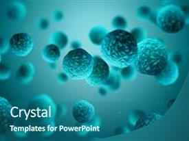 5000 life science powerpoint templates w life science themed presentation theme featuring microscope medical 3d render bacteria background and a ocean colored foreground toneelgroepblik Choice Image