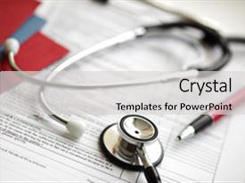 Medical records powerpoint templates crystalgraphics cool new ppt layouts with medical records and stethoscope backdrop and a light gray colored foreground toneelgroepblik Choice Image