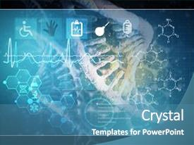 Beautiful theme featuring medicine background image as dna backdrop and a teal colored foreground