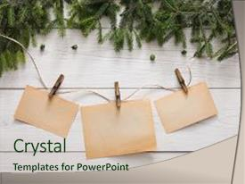 Presentation design enhanced with merry christmas and happy new background and a  colored foreground.