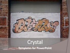 Cool new PPT layouts with graffiti - metal sheet background street art backdrop and a gray colored foreground.