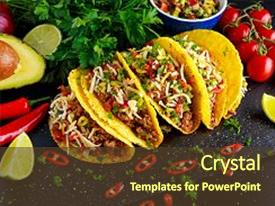 5000 mexican powerpoint templates w mexican themed backgrounds presentation theme with food delicious taco shells background and a tawny brown toneelgroepblik Gallery