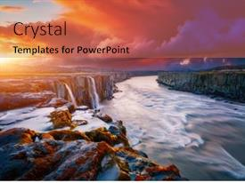 Beautiful slide deck featuring mighty-stream-of-breathtaking-selfoss backdrop and a coral colored foreground