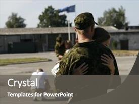 10 military briefing powerpoint templates w military briefing ppt theme featuring military briefing soldier meeting with his girlfriend background and a dark gray toneelgroepblik Choice Image