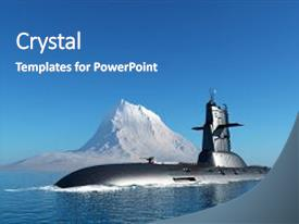 PPT layouts with military ship in the sea background and a  colored foreground.
