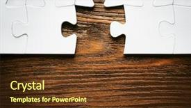 Colorful PPT layouts enhanced with missing a piece of puzzle backdrop and a tawny brown colored foreground