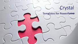 PPT theme having missing puzzle piece background and a sky blue colored foreground