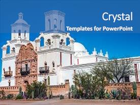 5000 mission powerpoint templates w mission themed backgrounds cool new ppt layouts with san xavier del bac backdrop and a teal toneelgroepblik Images