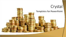 Beautiful theme featuring money - golden euro coin isolated backdrop and a white colored foreground