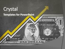 Colorful slide deck enhanced with future state - money bill fused backdrop and a dark gray colored foreground.