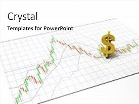 Cool new presentation with money symbol gold stock exchange graph candlestick graph stock market currency and financial investor money background investment and money chart indicator copy space minimal concept 3d illustration backdrop and a  colored foreground.