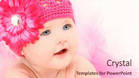 Presentation theme consisting of month old american baby girl background and a lemonade colored foreground.