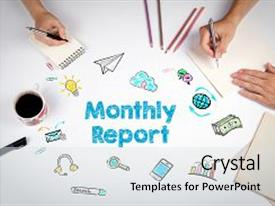 1000 monthly report powerpoint templates w monthly report themed colorful presentation design enhanced with monthly report the meeting at backdrop and a light gray colored toneelgroepblik Image collections