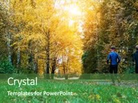 5000 running powerpoint templates w running themed backgrounds presentation theme featuring morning running running athletes park background and a forest green colored foreground toneelgroepblik Gallery