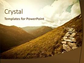 Colorful PPT layouts enhanced with mountains fantasy abstract nature landscape backdrop and a cream colored foreground.