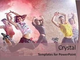 Zumba powerpoint templates ppt themes with zumba backgrounds beautiful theme featuring breakdance moving background young people backdrop and a coral colored foreground toneelgroepblik Choice Image