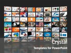 Powerpoint template silver mouse plugged into video next to wall of television video broadcast advertising background custom template design 20000 presentation theme toneelgroepblik Image collections