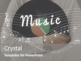 Presentation design featuring culture - music musical sound entertainment fun background and a gray colored foreground