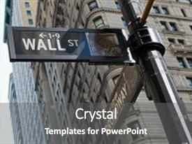Cool new slide deck with nasdaq - low angle view of signs backdrop and a  colored foreground.